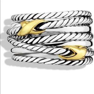 David Yurman 'Double X Crossover' Ring